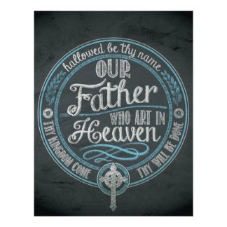 """""""Our Father Who Art In Heaven"""" Christian Gift God Letterhead"""