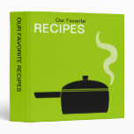 Our Favourite Recipes (1.5in) - Martian Green 3 Ring Binder