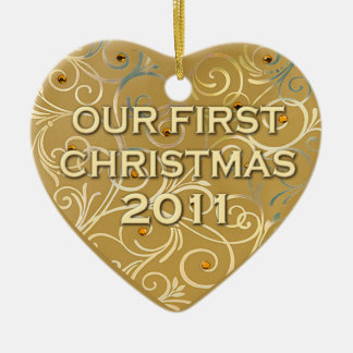 Our First Christmas 2011 Ceramic Ornament
