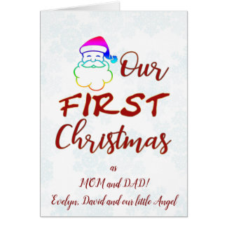 Our First Christmas as MOM and DAD! Card
