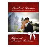 Our First Christmas Cards invitations