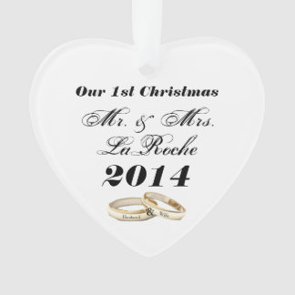 Our First Christmas Customizable Mr. & Mrs. Ornament
