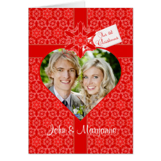 Our First Christmas for Wife with Custom Photo Card