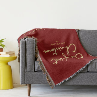 Our First Christmas | Hand Lettered 1st Christmas Throw Blanket