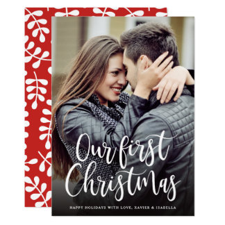 Our First Christmas Holiday Photo Card