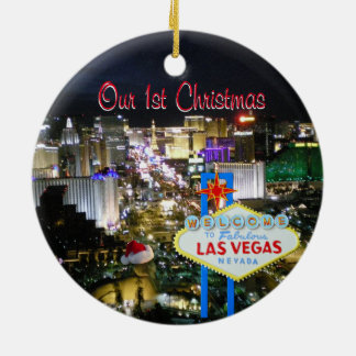Our First Christmas Las Vegas Ceramic Ornament