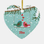Our first Christmas love birds holiday ornament