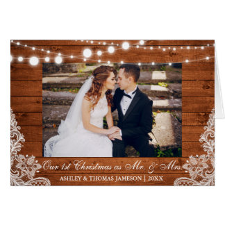 Our First Christmas Mr. & Mrs. Rustic Card