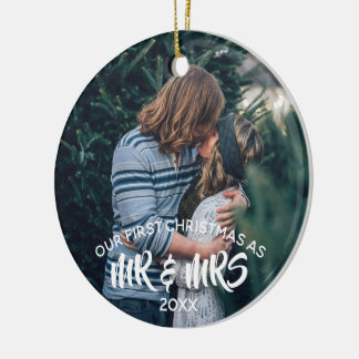 Our First Christmas Personalized Ceramic Ornament