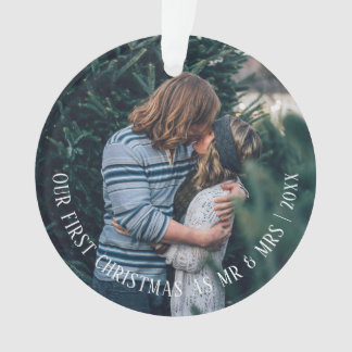 Our First Christmas Personalized Photo Ornament