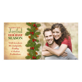 Our First Christmas Together Boughs Holiday Photo Card