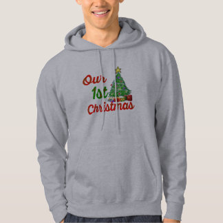 our first christmas tree family hoodie design