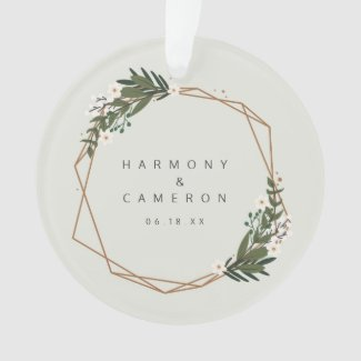 Our First Christmas | Wedding Photo Ornament