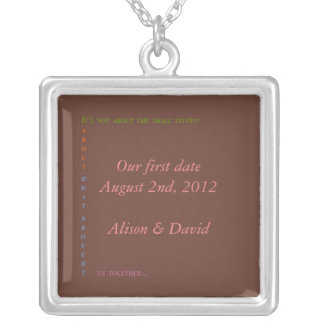 Our first date custom necklace