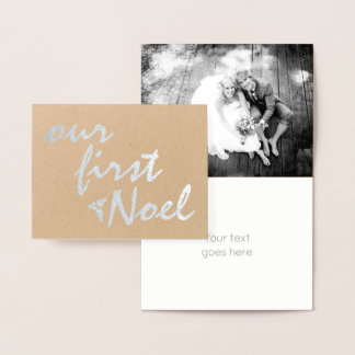 Our first Noel kraft paper Christmas silver Foil Card