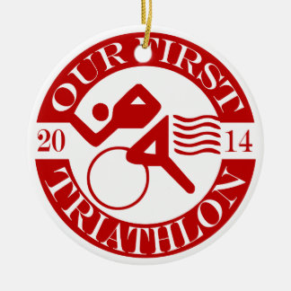 Our First Triathlon Ornament - 2014