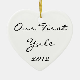 Our First Yule Ceramic Ornament