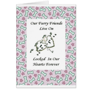 Our Furry Friends Live Locked in Our Hearts 2 Cards