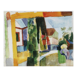 Our garden on the lake (IV) by August Macke Poster