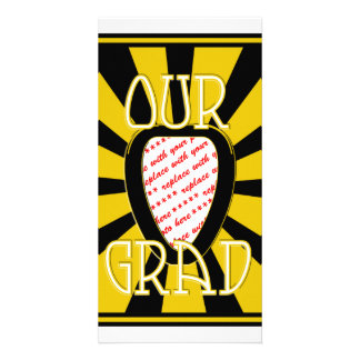 'OUR GRAD' Black & Gold Photo Frame - ZOOM! Photo Cards