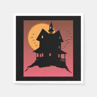Our Haunted House Halloween Party Paper Napkins