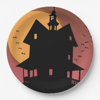 Our Haunted House Halloween Party Paper Plates