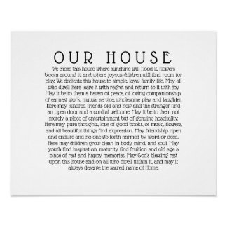 Our House Poster Print