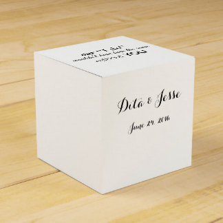 Our I Do Wouldn't Be the Same Without You Favors Favor Box