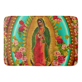 Our Lady Guadalupe Mexican Saint Virgin Mary Bath Mat