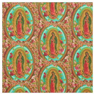 Our Lady Guadalupe Mexican Saint Virgin Mary Fabric