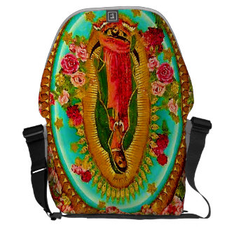 Our Lady Guadalupe Mexican Saint Virgin Mary Messenger Bag