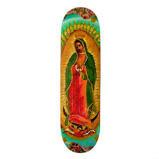 Our Lady Guadalupe Mexican Saint Virgin Mary Skateboard