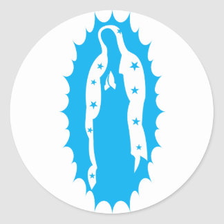 OUr Lady Guadalupe Modern Aqua Classic Round Sticker