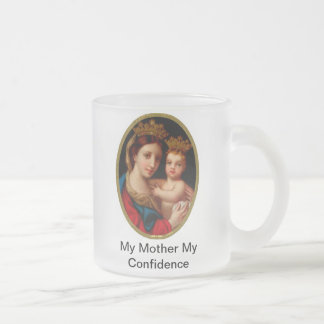 Our Lady of Confidence 10 Oz Frosted Glass Coffee Mug