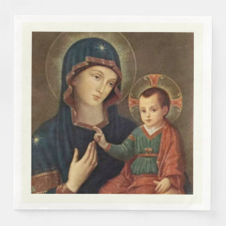 Our Lady of Consolation Virgin Mary Jesus Paper Dinner Napkin