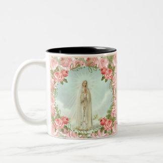 Our Lady of Fatima Centennial Anniversary Two-Tone Coffee Mug
