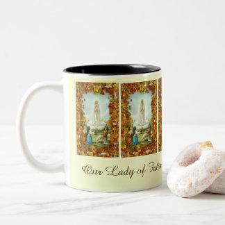 Our Lady of Fatima Centennial Fall Autumn Two-Tone Coffee Mug