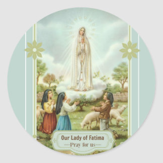 Our Lady of Fatima Children Sheep Classic Round Sticker