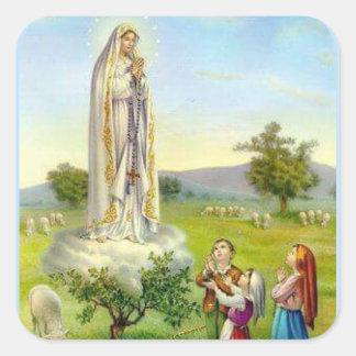 Our Lady of Fatima Children Sheep Square Sticker