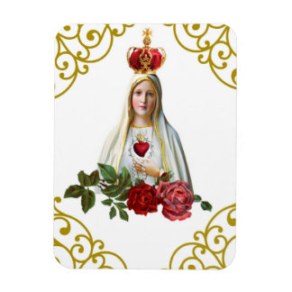 Our Lady of Fatima Rosary Crown Roses Magnet