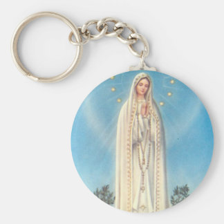 Our Lady of Fatima Rosary Keychain