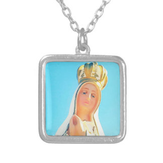 Our Lady of Fatima Silver Plated Necklace