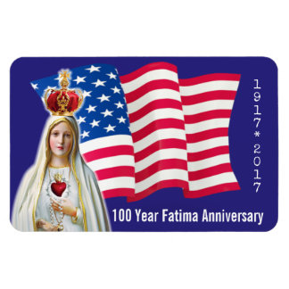Our Lady of Fatima USA FLAG 100 YEAR ANNIVERSARY Magnet