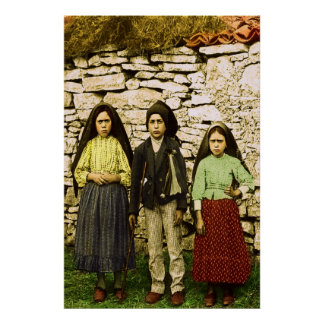 Our Lady of Fatima Virgin Lucia Jacinta Francisco Poster
