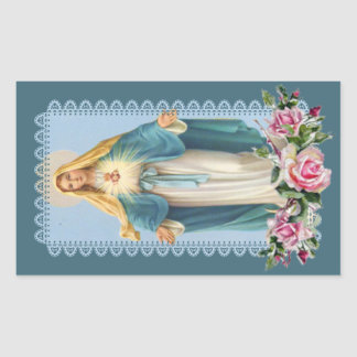 Our Lady of Grace Pink Roses Sticker
