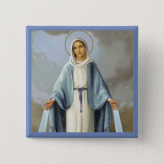 Our Lady of Grace Virgin Mary 2 Inch Square Button