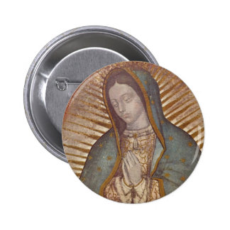 OUR LADY OF GUADALUPE 2 INCH ROUND BUTTON
