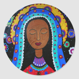 Our Lady of Guadalupe by Prisarts Classic Round Sticker