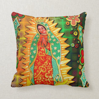 Our Lady of Guadalupe Mexico Throw Pillow