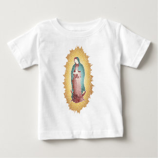 Our Lady Of Guadalupe Mosaic Design Baby T-Shirt